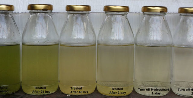 Chemical oxygen demand (COD) - Improved clarity, and reduced algae